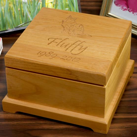 Red Alder Engraved Wood Urn