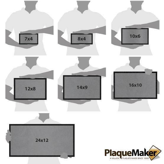 Titanium Headstones Size Guide