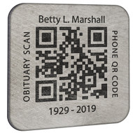 Titanium Memorial QR Tags