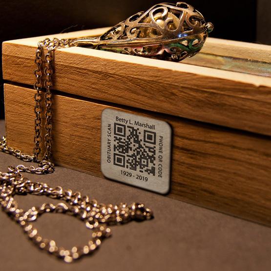 Titanium Memorial QR Tags