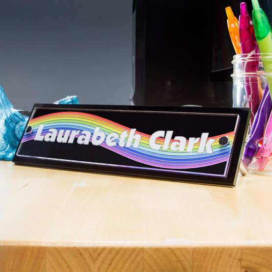 Clear Acrylic Desk Name Plates