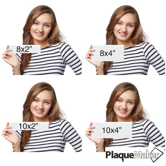 Aluminum Cubicle Name Plates Sizes