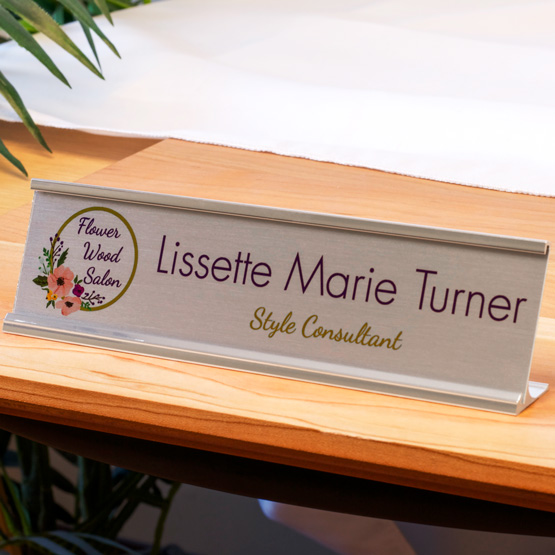Aluminum Desk Name Plates