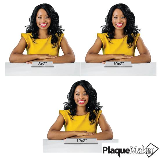 Aluminum Desk Plate Size Chart