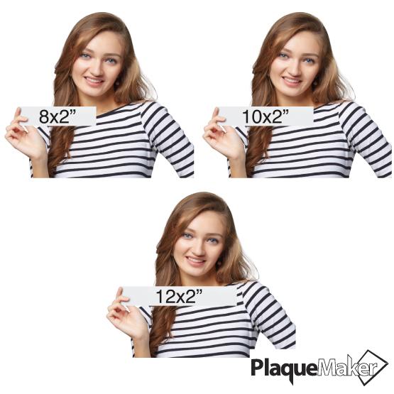 Aluminum Office Plates Size Chart