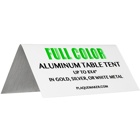Aluminum Table Tent