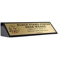 Black Piano-Finish Desk Wedge