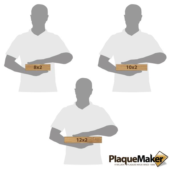 Bamboo Desk Plate Size Chart