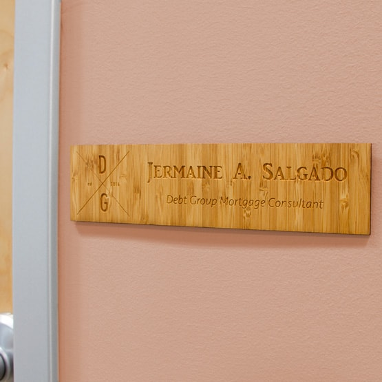 Bamboo Office Name Plate