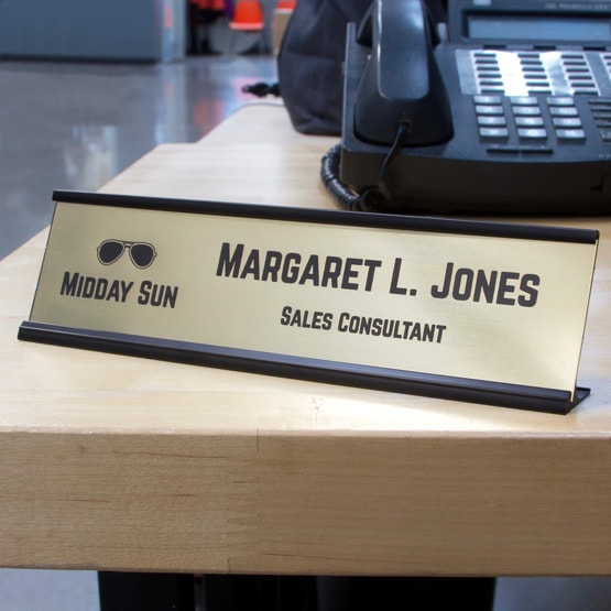 Brass Desk Name Plates