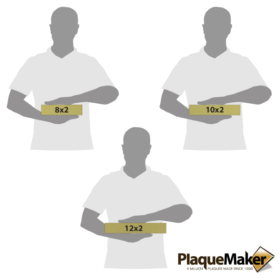 Brass Desk Name Plates Size Chart