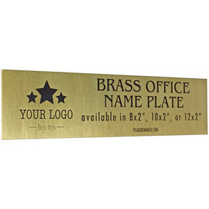 Brass Office Name Plates