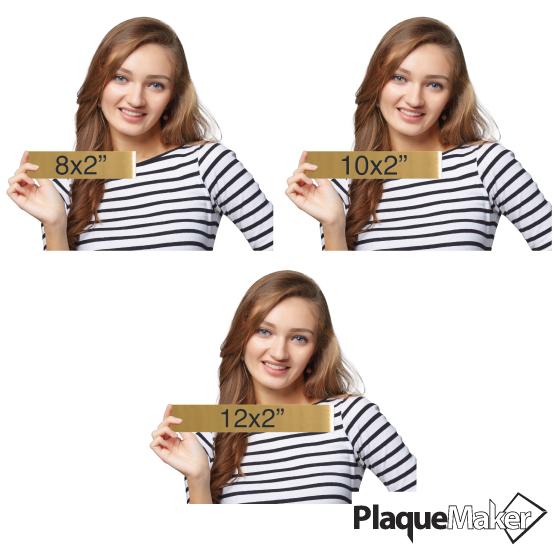 Brass Office Plates Size Chart