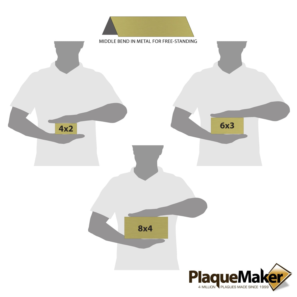 Brass Table Tent Size Guide