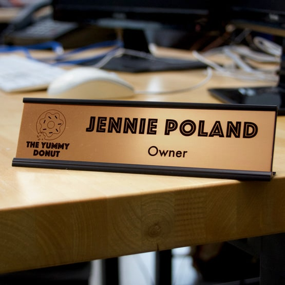 Bronze Desk Name Plates