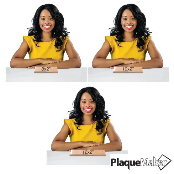 Bronze Desk Name Plates Size Chart