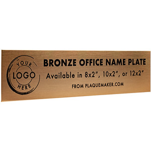 Bronze Office Name Plates
