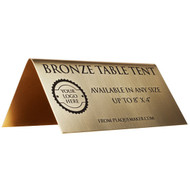 Bronze Table Tent