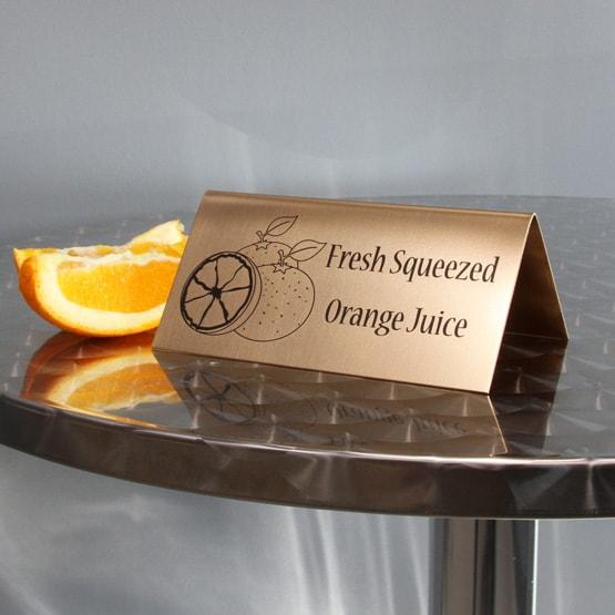 Bronze Table Tent
