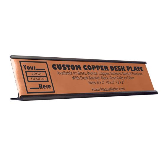Copper Desk Plate