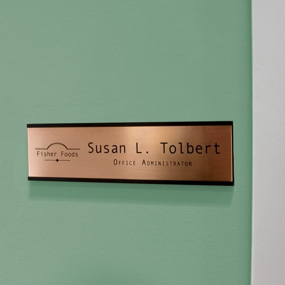 Copper Office Name Plates