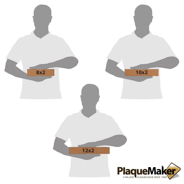 Copper Office Plates Size Chart