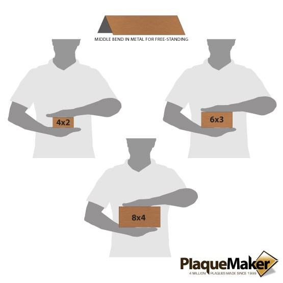 Copper Table Tent Sizes