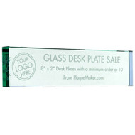 glass desk plate sale