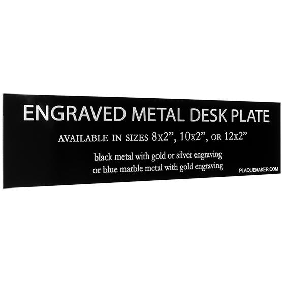 Engraved Desk Name Plates