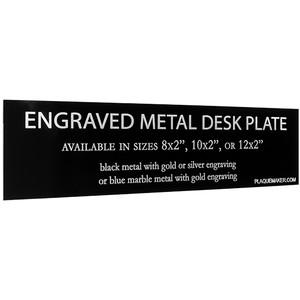 Laser Metal Desk Plate