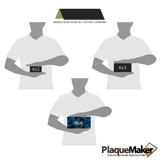 Engraved Table Tent Size Guide