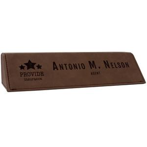 Dark Brown Leatherette Desk Wedge
