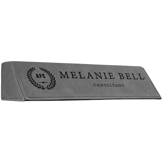 Gray Leatherette Desk Wedge