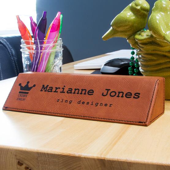 Rawhide Leatherette Desk Wedge.