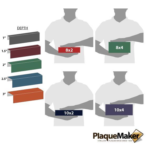 Plastic Cubicle Name Plates Sizes