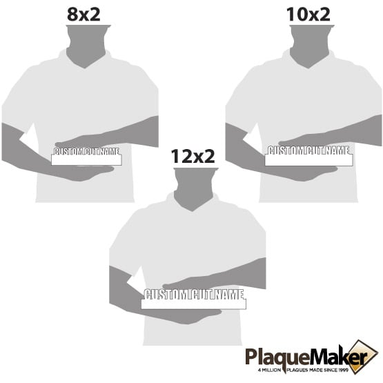 Cut Out Desk Name Plates Size Guide