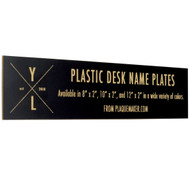 Plastic Desk Name Plates