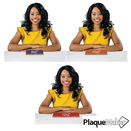 Plastic Desk Name Plate Size Comparison