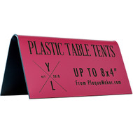 Plastic Table Tent