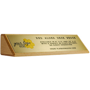 Desk Wedge Name Plates Red Alder