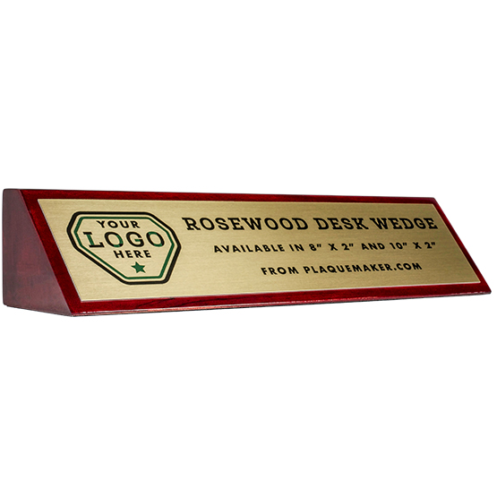 Rosewood Desk Wedge Name Plates