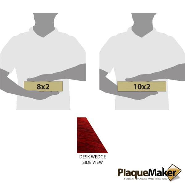 Rosewood Desk Wedge Plates Sizes