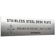 Stainless Steel Desk Name Plates