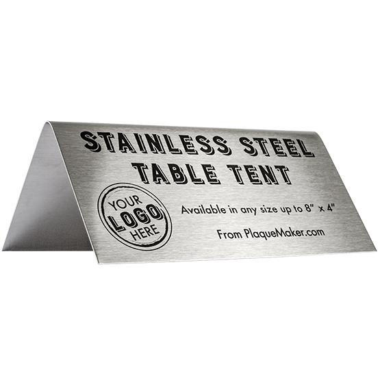 Stainless Steel Custom Table Tent