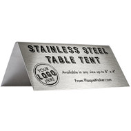 Stainless Steel Custom Table Tent
