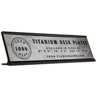 Titanium Desk Name Plates