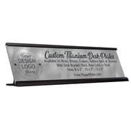 Titanium Desk Name Plates