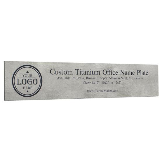 Titanium Office Name Plates