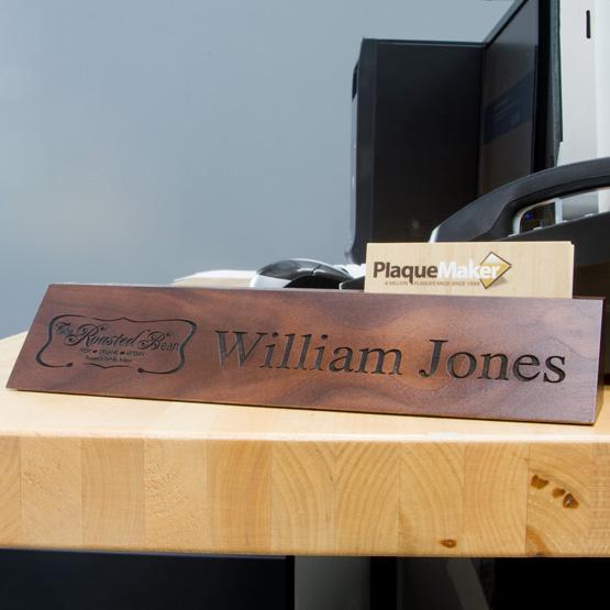 Walnut Desk Wedge with Cards