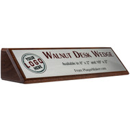 "Quick Ship: Walnut Desk Wedge - 8""x2"""